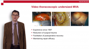 Video thoracoscopic undersized MVA